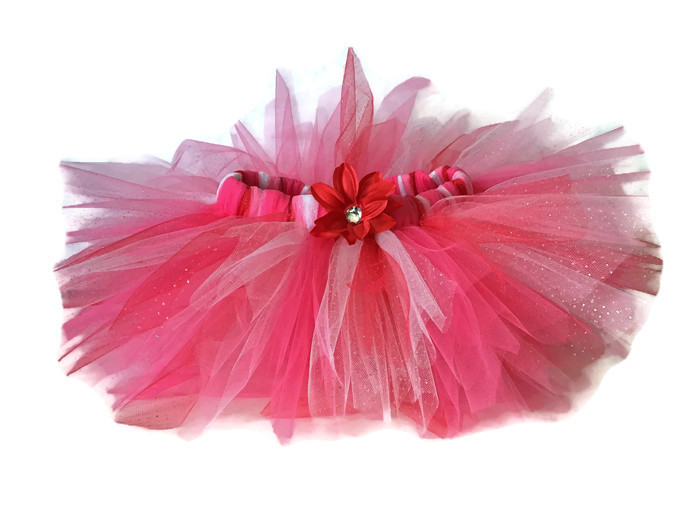 Red Shimmer Sweetheart Tutu