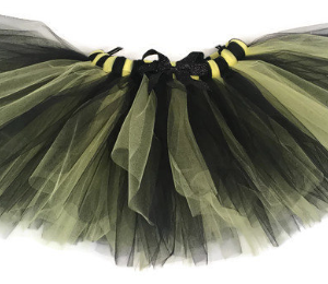 Batman Bumble Bee Striped Halloween Tutu