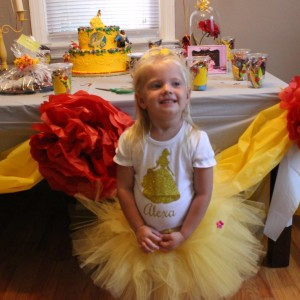 Bell Tutu Inspired by Beauty in Soft Yellow