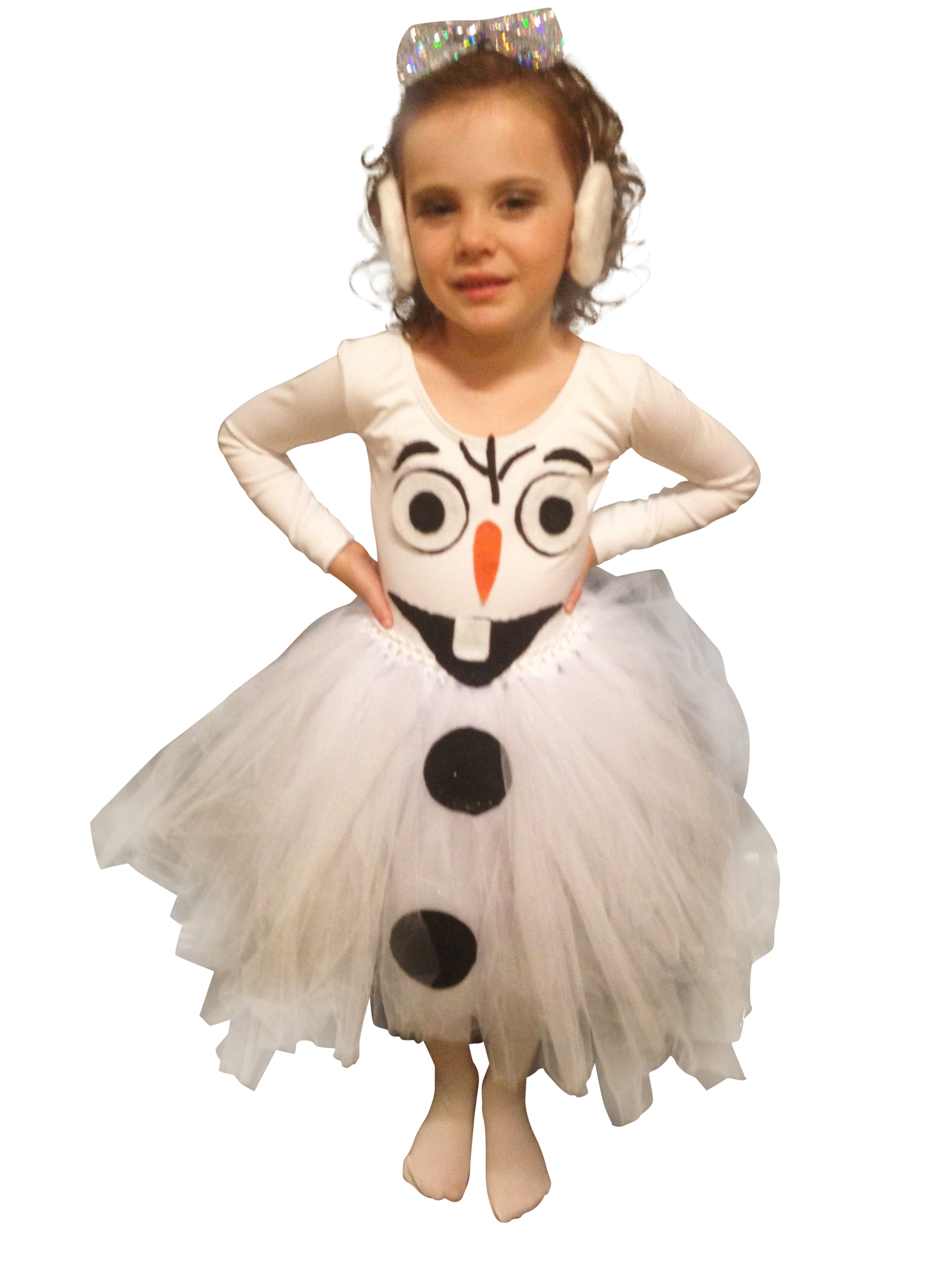 frosty snowman tutu dress