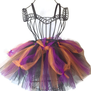 Black Cobweb Spider Witch Halloween Tutu