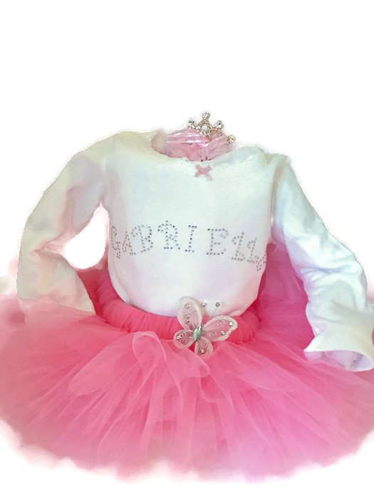 butterflies and tiaras baby tutu set