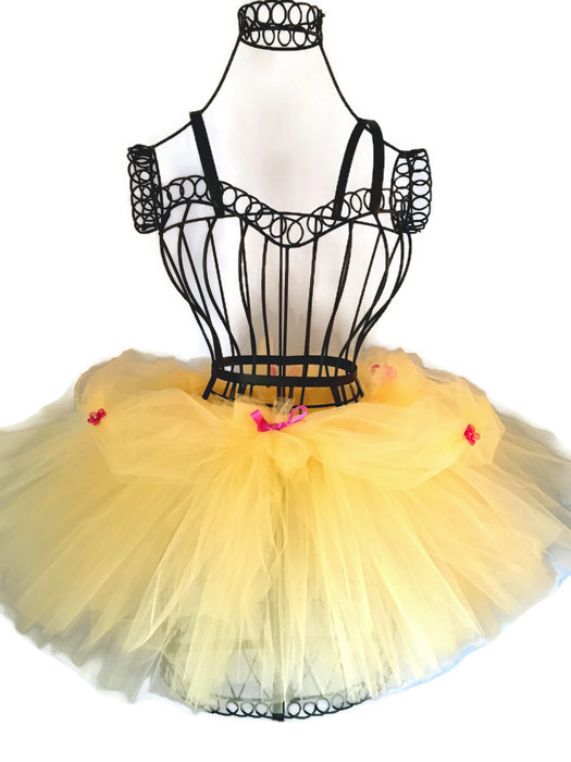 Bell tutu inspired by beauty soft yellow