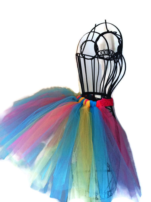 Rainbow Sequin Bustle Tutu