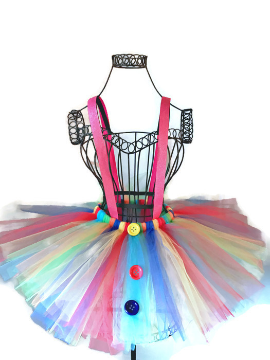 Be A Clown Rainbow Tutu with Suspenders