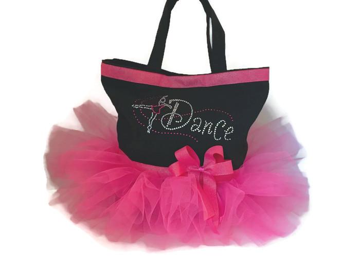 hot pink tutu tote bag