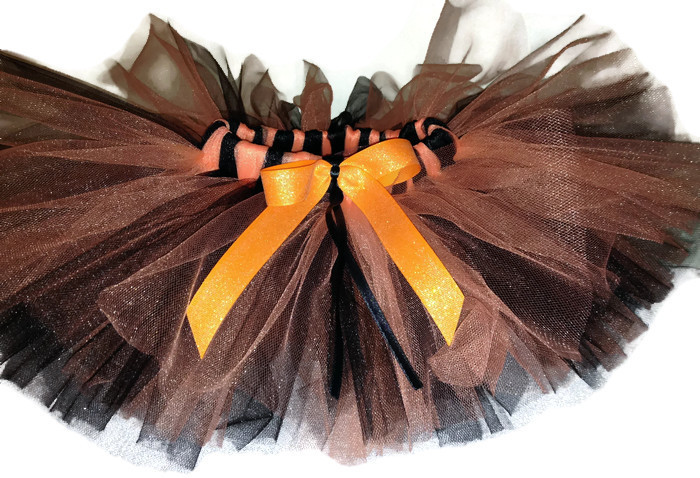 Black and Orange Shimmer Flyers Inspired Tutu