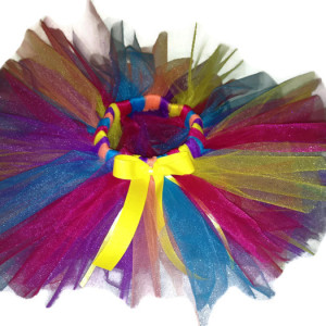 bright rainbow newborn tutu