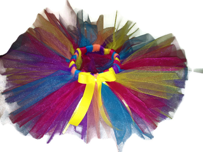bright rainbow newborn tutu