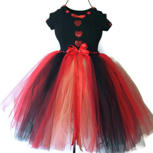 Hearts Desire Red Queen Tutu Dress