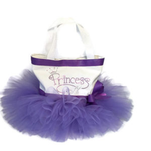 purple princess tutu tote bag