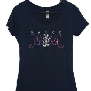 oh so bling rhinestone dance mom shirt