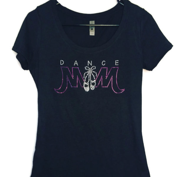 oh so bling rhinestone dance mom shirt