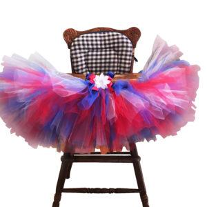 picture perfect patriotic high chair tutu