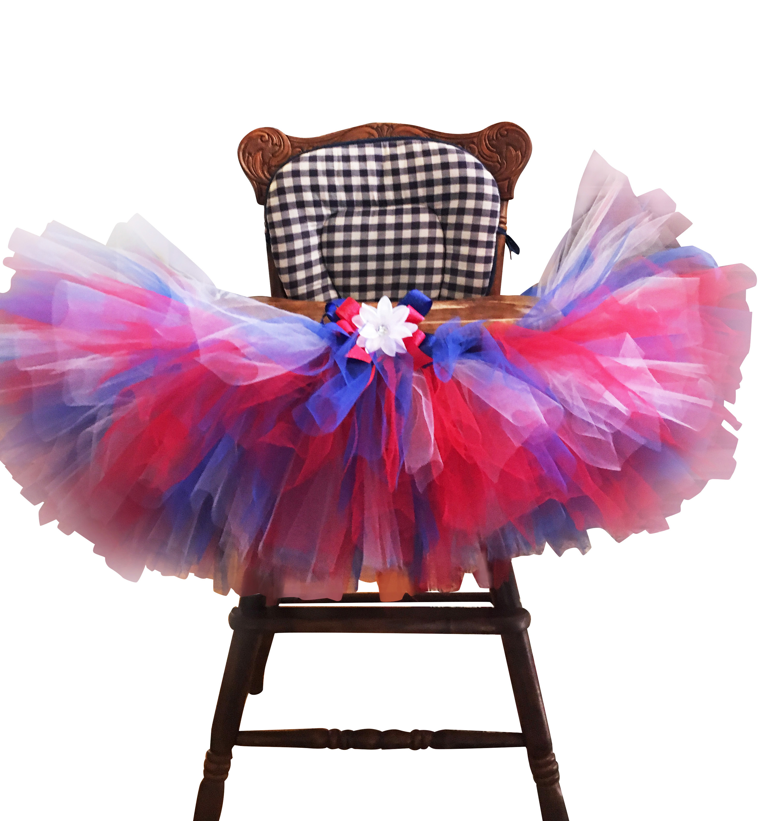 picture perfect patriotic high chair tutu