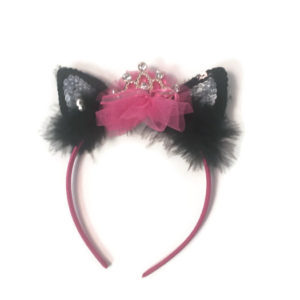 Sassy Cat Sparkle Tiara Headband