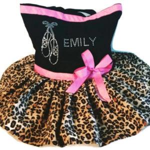 cheetah girl tutu tote bag