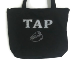 "Sparkling Rhinestone ""TAP"" Dance Tote Bag"