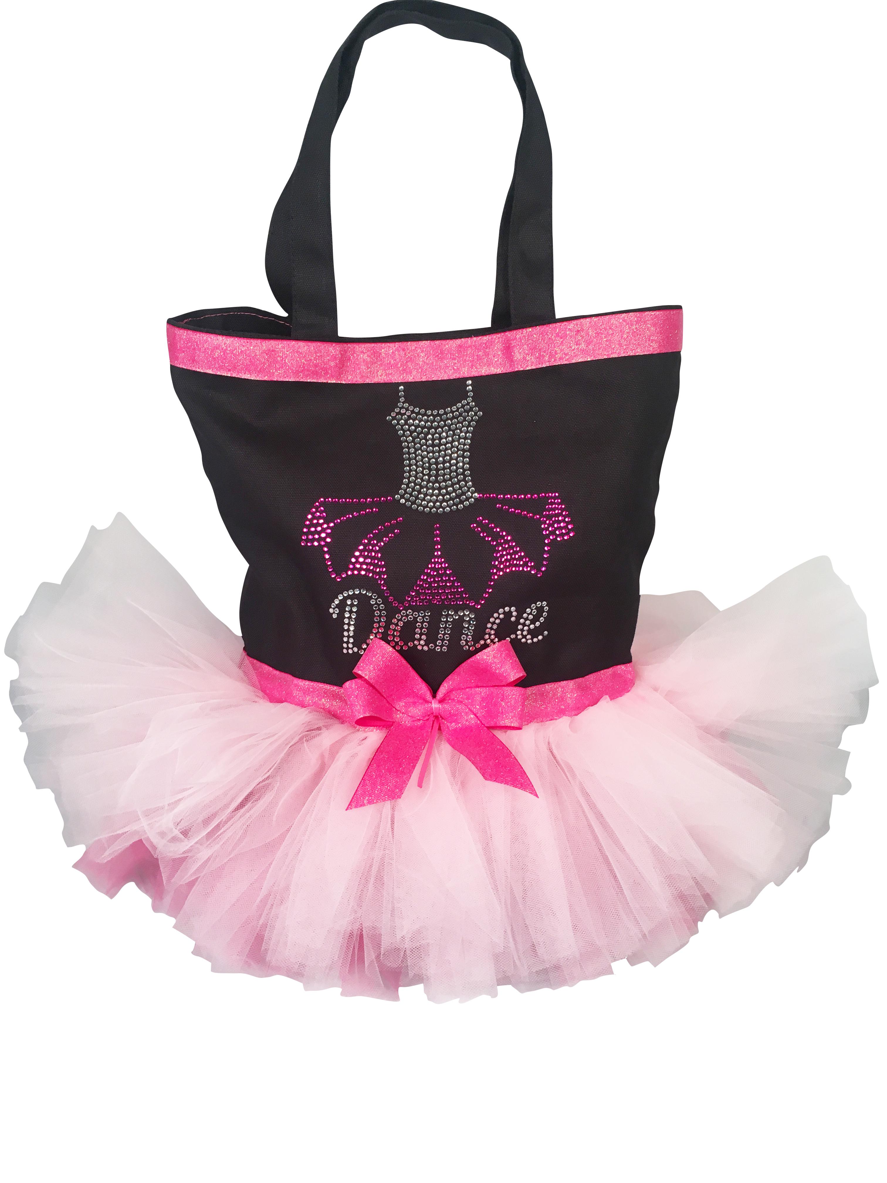 glitzy pink tutu bag
