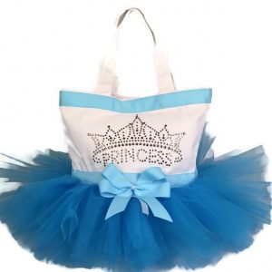 Princess party tutu tote bag