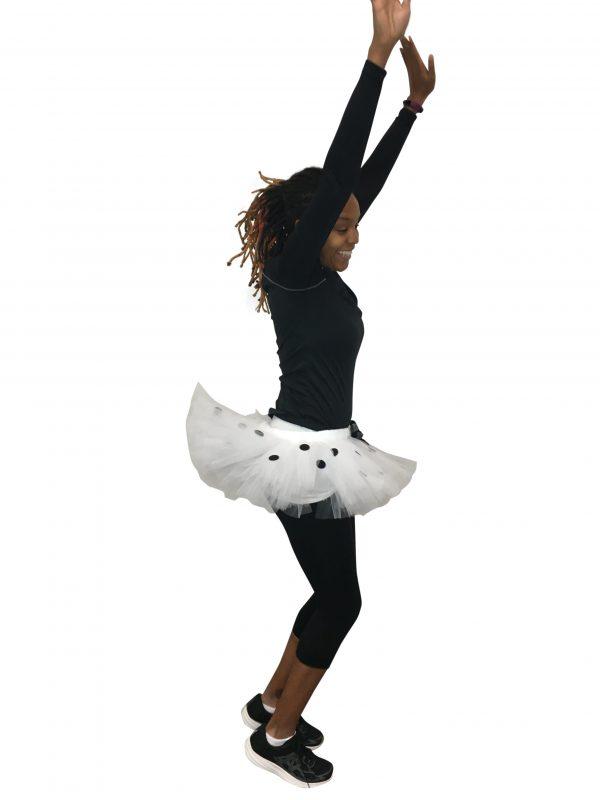 Dalmatian Inspired White Polka Dot Tutu