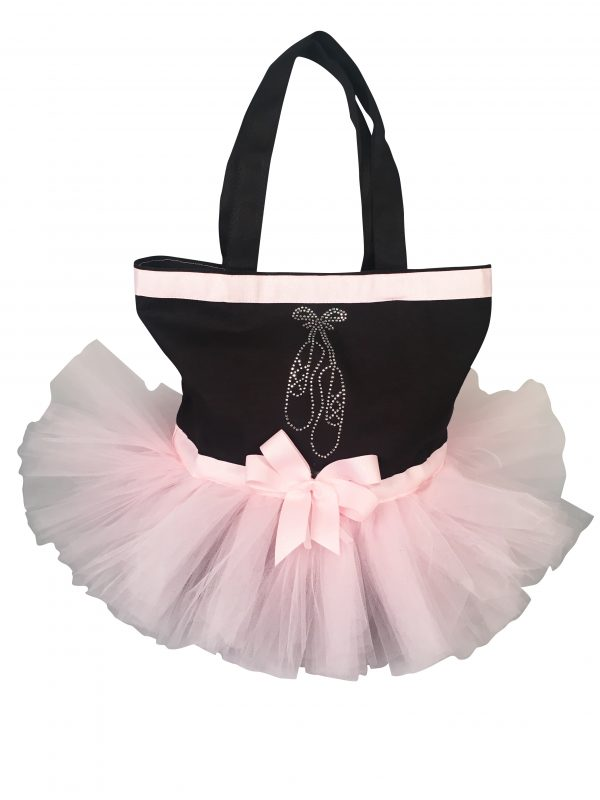 Rhinestone Ballet Slipper Tutu Tote Bag