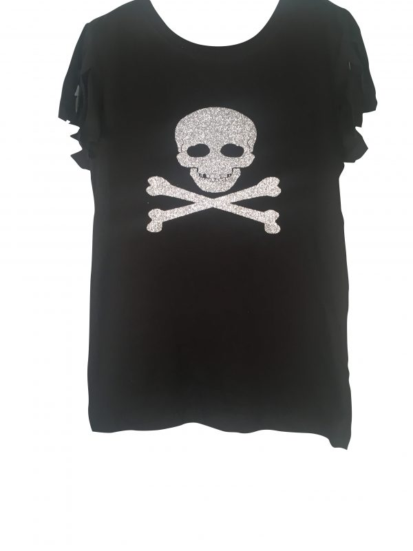 Uma Inspired Shredded Sleeve Pirate Shirt
