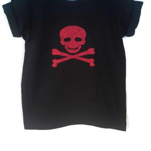 Pirates Glitter Skull Halloween Party Shirt