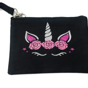 Tiny Dancer Black Bling Wristlet Bag