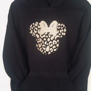 Cheetah Animal Print Minnie Ear Hoodie