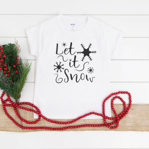 let it snow snowflake shirt