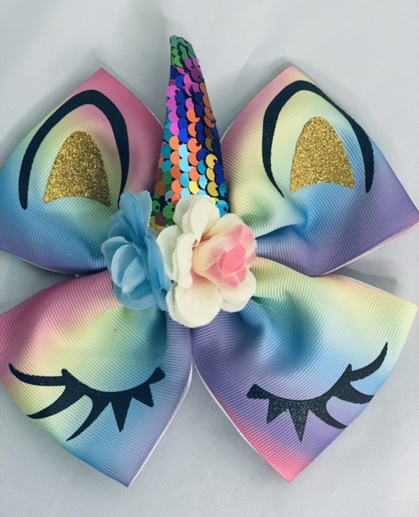 rainbow unicorn bow