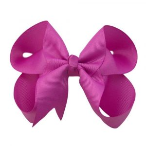 pretty and bright solid color hair bows